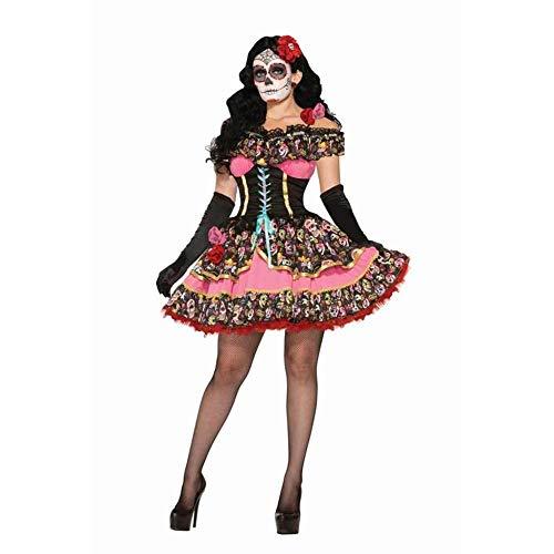 KAIDILA Käfer-Saft schwarz-weiß Streifen Magier Smoking Schädel Ghost Braut Zombie Vampir - Schädel Braut Kostüm
