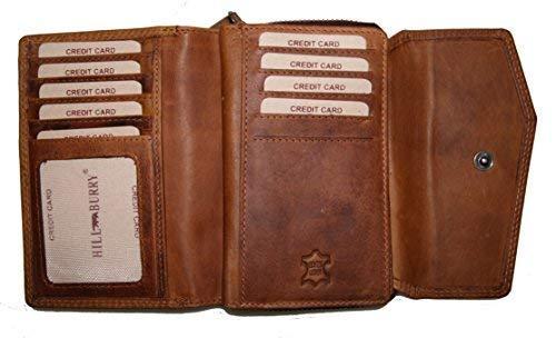 - Brown-leder-handtasche Geldbörse Tasche (Hill Burry Vintage Leder Damen Portmonnaie / Geldbörse HB13092 (vintage brown))