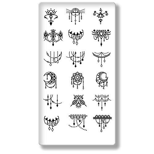Love Nails Mandala esmaltes Plantilla nº 6I con Total 18atrapasueños motivos para la placa de uñas I sello para nail art