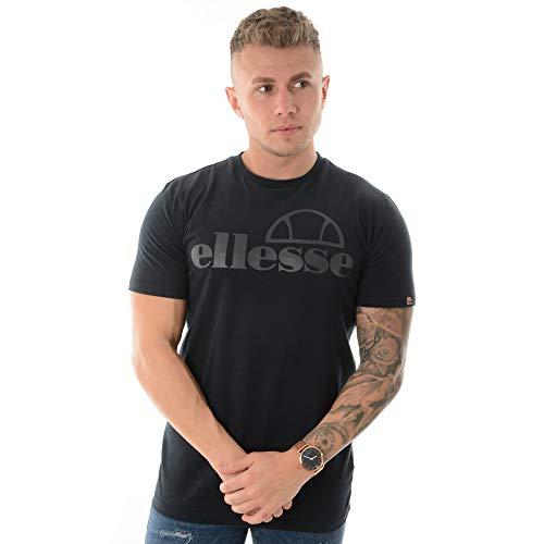 Ellesse Hombre Camiseta Ermes, Negro