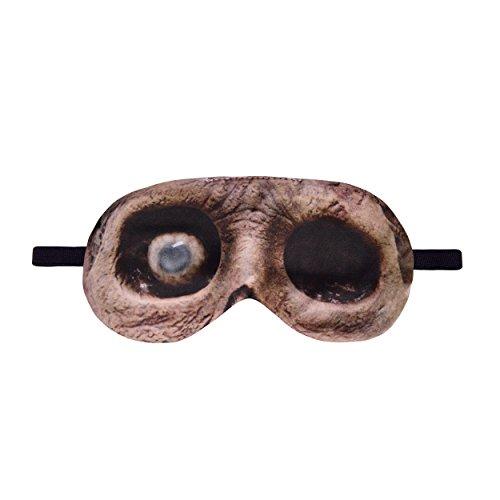 fmaske mit lustigem Motiv, weich, Polyester, Zombie, einheitsgröße ()