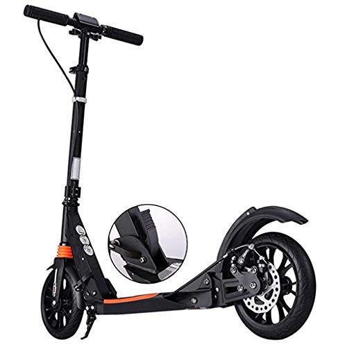 Patinetes ZXMEI Adulto Y Freno De Disco De Mano con Rueda Grande X10, Scooter Plegable De Doble Suspensión, Altura Ajustable, Carga 150 Kg (330 LB) (Color : Black)