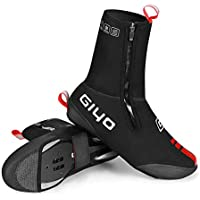 Volwco Bike Bicycle Shoe Covers Overshoes, Cold-proof and Waterproof MTB Mountain Road Cycling Shoe Covers Warmer Bicycle Overshoes Booties Covers with Reflective Design