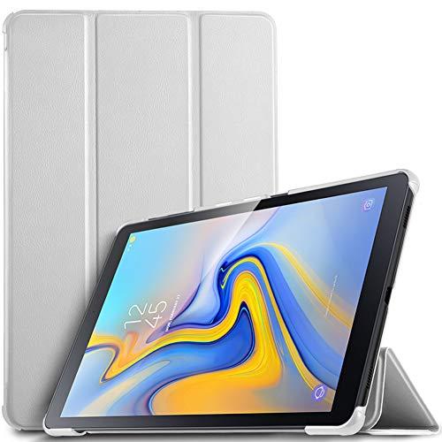 IVSO Hülle für Samsung Galaxy Tab A 10.5 SM-T590/T595, Slim Schutzhülle mit Auto Aufwachen/Schlaf Funktion Perfekt Geeignet für Samsung Galaxy Tab A SM-T590/SM-T595 10.5 Zoll 2018, Weiß