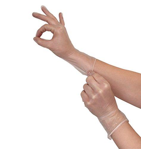 Einmalhandschuhe 100 Stück Vinyl Handschuhe Größe S (S-XL erhältlich)| Vinylhandschuhe puderfrei günstig Allergiker geeignet | Einweghandschuhe latexfrei von VIDIMA (Arzt Handschuhe)