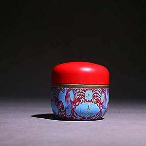 Youliy Mini boîte à thé rétro en métal Motif paysage