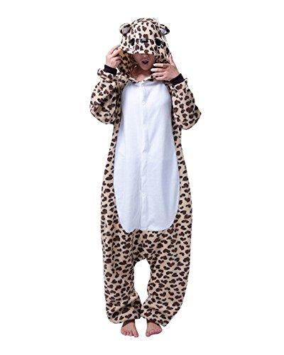 Minetom kigurumi pigiama unisex adulto cosplay halloween costume animale pigiama sleepwear casual tuta blu stitch tigger unicorno animale cosplay zampa artigli scarpe peluche pantofole ( leopardo eu l )