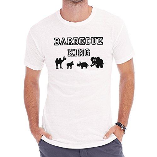 Barbeque King Herren T-Shirt Weiß
