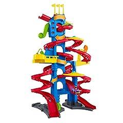 Idea Regalo - Fisher-Price- Little People Skyway Città Trasformabile, Playset Pista con Due Veicoli Wheelies Inclusi, Giocattolo 1+ Anni, Multicolore, FXK60