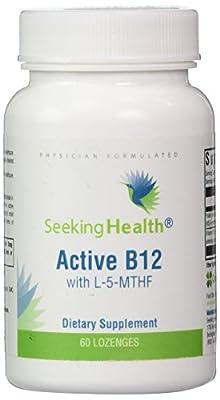 Active B12 Lozenge With L-5-MTHF - 60 Lozenges - Seeking Health by Seeking Health