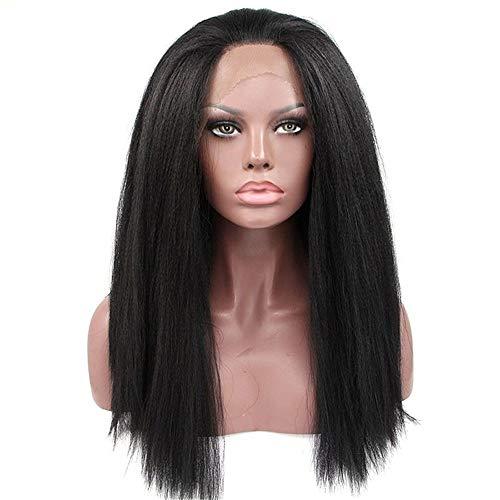 r 20 '' Synthetische Lack Front Perücken Afroamerikaner Verworrene Gerade Perücken Für Frauen Afrikanische Spitzeperücken Weibliche Perücke ()