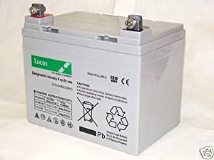 Lucas AGM 12v Mobility Battery 34Ah Block Terminal Scooters
