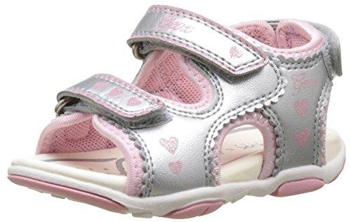 Geox Baby Mädchen B Sandal Agasim Girl B, Silber (SILVERC1007), 22 EU