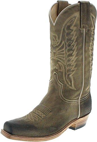 Sendra Boots Bronson 2073 Serraje Harley Westernstiefel für Herren Braun, Groesse:43 (Beige Herren Cowboy-stiefel)