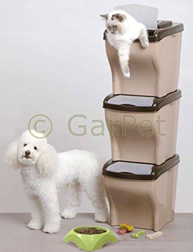 Bama Spa 3X Futtertonne mit Deckel Futterbox Futtereimer Hunde Katzen Futterbehälter