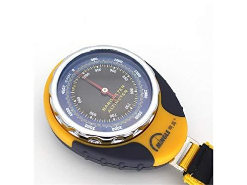 Explorer Compass, Outils de Navigation extérieure de Boussole de sonde de baromètre multifonctionnelle avec Le thermomètre (Jaune) Outil de Navigation