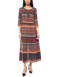 2b277407819db2 B.C. Best Connections Maxikleid Kleid Sommmerkleid Kurzgröße Damen Bunt  B.C. ...