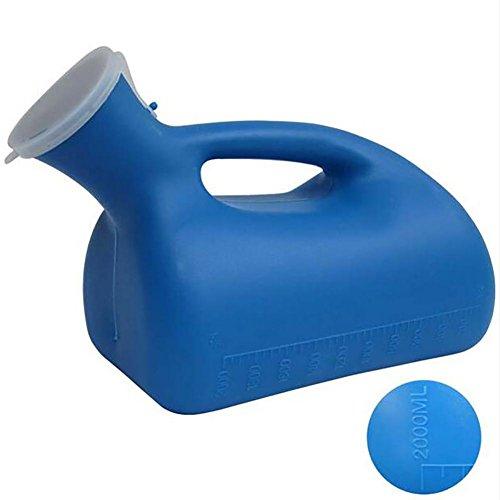 Capacité urinoir en plastique vert grande avec couvercle avec poignée anti-odeurs transportera urinoirs de lit pour les hommes
