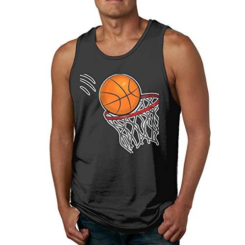 Abigails Home Happy Basketball Herren Tank Top Ärmellose Shirts T-Shirt Basketball Sport T-Shirt T-Shirts Outdoor Fitness(M,Schwarz) -