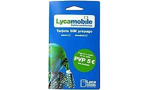 Tarjeta SIM Lycamobile - 5€ de saldo - llamadas nacionales e internacionales - Internet móvil - cobertura Movistar - REQUIERE IDENTIFICACIÓN (DNI, NIE O PASAPORTE)
