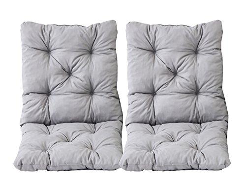Java Exclusiv Ambientehome Hanko - Juego de 2 cojines con respaldo para silla, 50 x 98 x 8 cm, color...