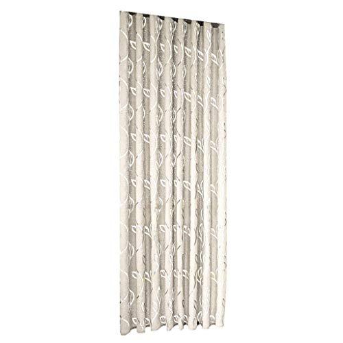 Xmiral Türvorhang Blätter Gedruckte Ösen Thermo Vorhang Verdunklungsvorhang Gardine(Beige,100x130 cm)