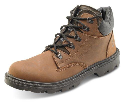 Sherpa Chukka Sicherheit Stiefel mid cut–b-click Schuhe Brown