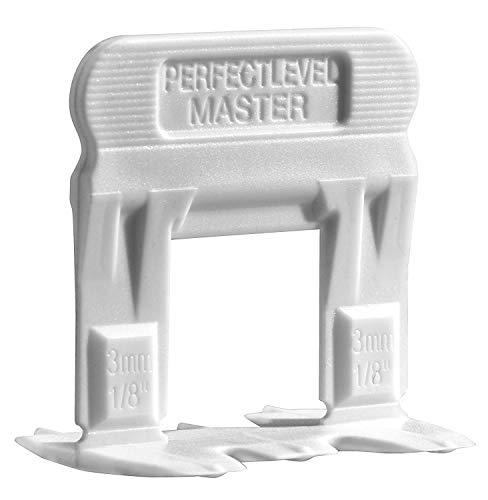 """T-lock TM 1/8""""(3mm) 250Clips"""" perfecto nivel Master TM profesional de baldosas de """"anti lippage–Sistema de nivelación (espaciadores sólo), rojo cuñas no incluidas y se venden por separado."""