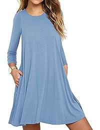 T shirt kleid hellblau