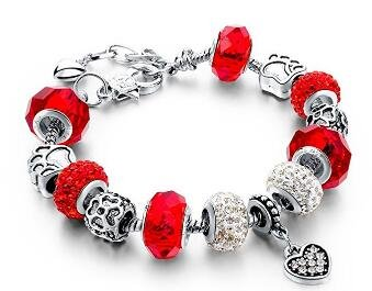 Kyeo Perles en verre de mode romantique Bracelet en cristal Bracelet de perles bricolage Cadeaux pour hommes et femmes