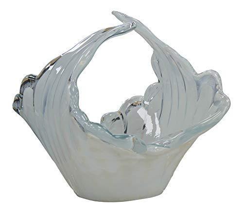 Murano Handgefertigt Glas Schüssel von Venezianische Handwerker Milch Glas Weiß 32cm -