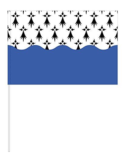 Eurodrapeau Drapeau Morbihan, Polyester, Quadri, 120 x 80 x 5 cm