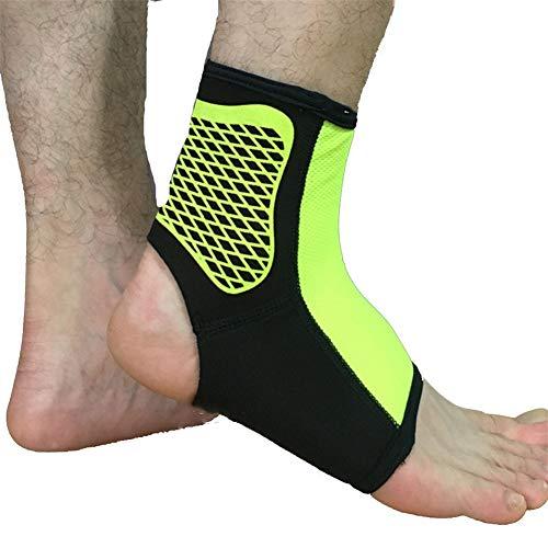 Knöchelschutzhülle für Sport Knöchelverstauchung Schmerzen Unterstützung Plantarfasziitis Sehnenentzündung Verletzung,Green,XL