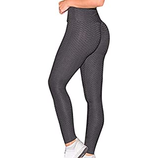 ASOSMOS Frauen Anti-Cellulite-Kompressionsgamaschen Slim Fit Butt Lift Elastic Pants (M, Schwarz)
