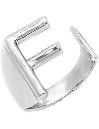 anello con lettera argento