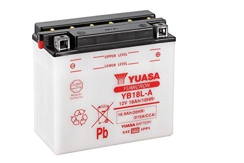 Batteria YUASA yb18l di a, 12V/18ah (dimensioni: 181X 92X 164) per moto guzzi Nevada base 750anno di costruzione 2002
