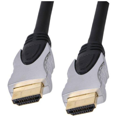 World of Data - 3D HDMI Kabel, professionelle Qualität, 4k x 2k (Full HD und mehr), v1.4 (auch kompatibel mit v1.2 und v1.3 HDMI Geräten, Audio & Video, Ethernet, 24 karat vergoldet, modernes Metall-Hüllen-Finish, 19-Pin HDMI Typ A zu 19-Pin HDMI Typ A schwarz schwarz F: HDMI 3D 3m (£5.99) -