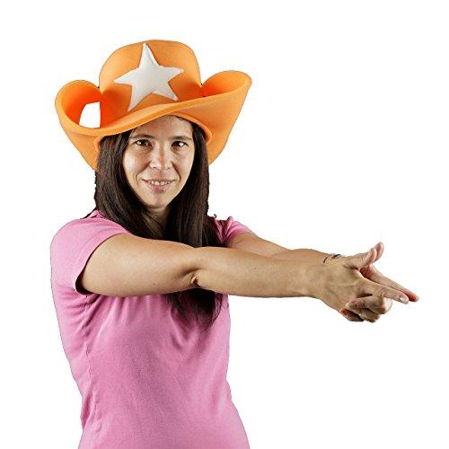 Verrückter hut schaum- Sheriff (Sherif Kostüme)