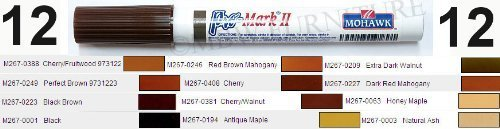set-12-mohawk-pro-mark-ii-touch-up-marker-cherry-walnut-black-maple-mahogany-by-mohawk