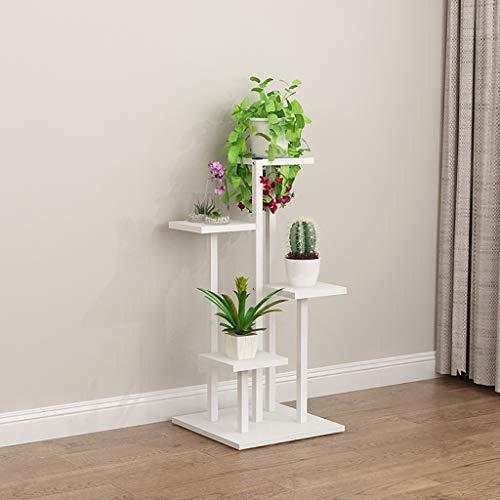 balcon voyantes Étagère en fer à fleurs rangement multifonctionnel étagère à fleurs vert plante présentoir blanc Plantes d'extérieur Présentoir (taille : 40 * 40 * 88cm)