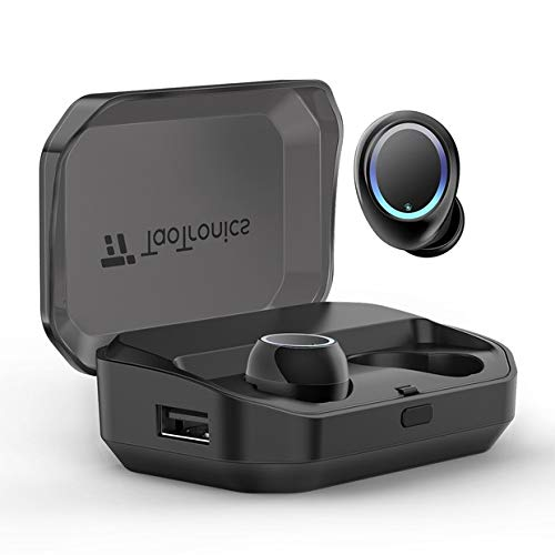 Bluetooth Kopfhörer Kabellos In Ear V5.0 TaoTronics IPX7 Wasserdicht True Wireless Earbuds TWS Ohrhörer mit integriertes Mikrofon und 3500mAh Ladebox für 1 Woche erweiterte Spielzeit*