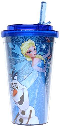 Disney Frozen Olaf and Elsa Flip Straw Travel Cup
