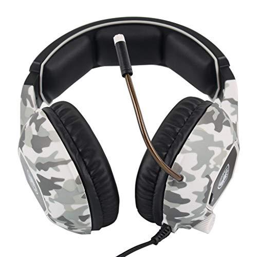 WoCoo Kabelgebundene Kopfhörer - SA818 USB Deep Bass Stereo PC Professional Gaming Wired Camo Kopfhörer mit Mikrofon, Geräuschunterdrückung Kopfhörer SADES SA818 Camouflage