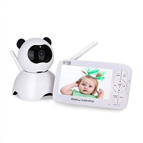 Monitores de bebés, bebé HD pantalla de 5 pulgadas con alta definición para el hogar cámara...