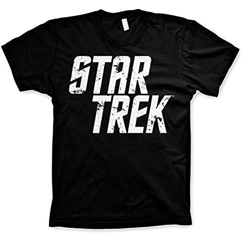 Hombres Oficial de Star Trek Apenó Negro Camiseta T shirt