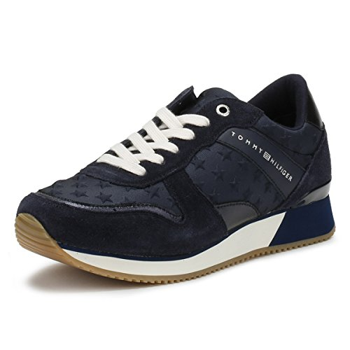 Tommy Hilfiger Femmes Midnight Marine Star Basket Midnight
