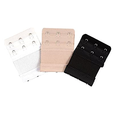 Ladies Bra Strap Extenders 2 x 2 Hooks/ 2 x 3 Hooks / Assorted Colour / Black Beige White