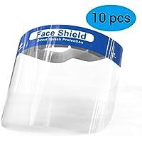 BLLJQ Protector Facial De Seguridad, Gorra De Protección Integral, Viseras De Reutilizable Transparente De Cara Completa, Visera Protección Facial, (10 Uds),