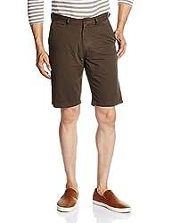 IZOD Mens Cotton Shorts (8907163584670_ZKST0095_36_Choco)