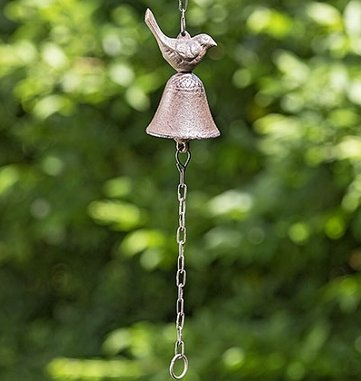 Türglocke Vogel L35cm rost Gusseisen Hängerlänge: 24cm